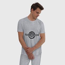 Пижама хлопковая мужская Three Days Grace цвета меланж — фото 2