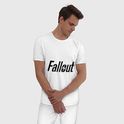 Пижама хлопковая мужская Fallout цвета белый — фото 2