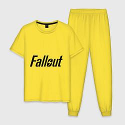 Пижама хлопковая мужская Fallout цвета желтый — фото 1