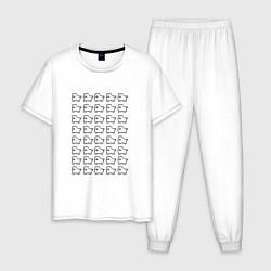 Пижама хлопковая мужская Undertale doge цвета белый — фото 1