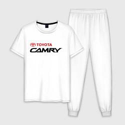 Пижама хлопковая мужская Toyota Camry цвета белый — фото 1