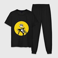 Пижама хлопковая мужская Nightmare before christmas цвета черный — фото 1