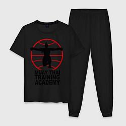 Пижама хлопковая мужская Mauy Thai Training Academy цвета черный — фото 1