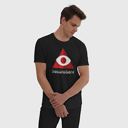 Пижама хлопковая мужская GTA 5: SecuroServ цвета черный — фото 2