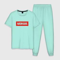 Пижама хлопковая мужская Versus Battle цвета мятный — фото 1