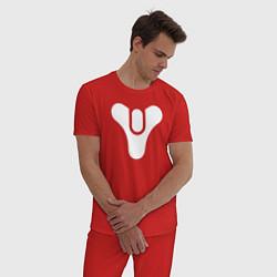Пижама хлопковая мужская Destiny Symbol цвета красный — фото 2