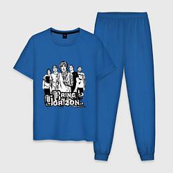 Пижама хлопковая мужская BMTH Group цвета синий — фото 1