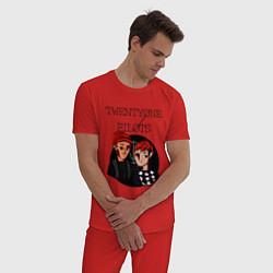 Пижама хлопковая мужская TOP Boys цвета красный — фото 2