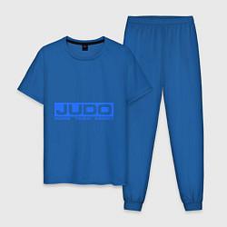 Пижама хлопковая мужская Judo: More than sport цвета синий — фото 1