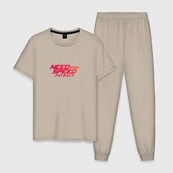 Пижама хлопковая мужская Need For Speed Payback цвета миндальный — фото 1