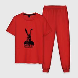 Пижама хлопковая мужская Wake Up 28:06:42:12 цвета красный — фото 1