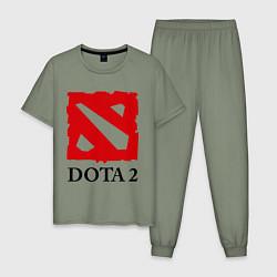 Пижама хлопковая мужская Dota 2: Logo цвета авокадо — фото 1