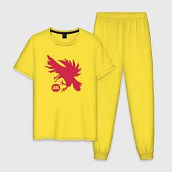 Пижама хлопковая мужская Warlock Eagle цвета желтый — фото 1