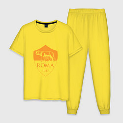 Пижама хлопковая мужская AS Roma: Autumn Top цвета желтый — фото 1