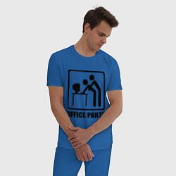 Пижама хлопковая мужская Office Party цвета синий — фото 2