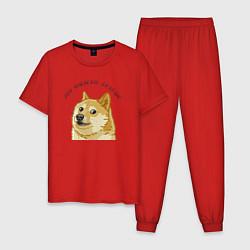 Пижама хлопковая мужская Это фиаско, братан! цвета красный — фото 1