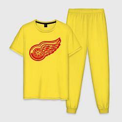 Пижама хлопковая мужская Detroit Red Wings: Pavel Datsyuk цвета желтый — фото 1