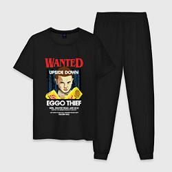 Пижама хлопковая мужская Wanted: Eggo Thief / 11 цвета черный — фото 1