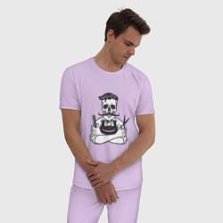 Пижама хлопковая мужская Barber Master цвета лаванда — фото 2