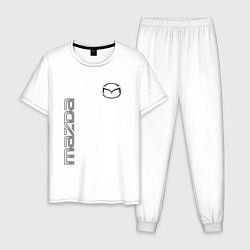 Пижама хлопковая мужская Mazda Style цвета белый — фото 1