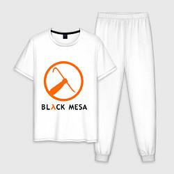 Пижама хлопковая мужская Black mesa: Scrap цвета белый — фото 1