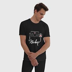 Пижама хлопковая мужская Muse: Baby цвета черный — фото 2