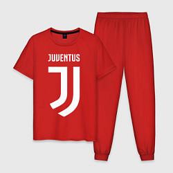 Пижама хлопковая мужская FC Juventus цвета красный — фото 1