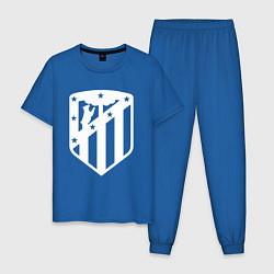 Пижама хлопковая мужская FC Atletico Madrid цвета синий — фото 1