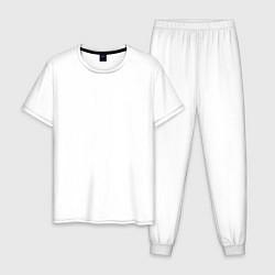 Пижама хлопковая мужская Шеврон ВДВ цвета белый — фото 1