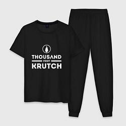 Пижама хлопковая мужская Thousand Foot Krutch цвета черный — фото 1