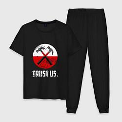 Пижама хлопковая мужская Trust us цвета черный — фото 1
