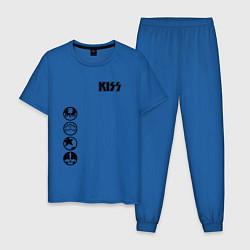 Пижама хлопковая мужская KISS Style цвета синий — фото 1