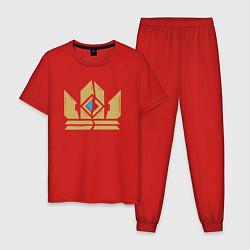 Пижама хлопковая мужская Gwent Crown цвета красный — фото 1