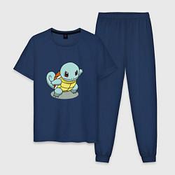 Пижама хлопковая мужская Pokemon Squirtle цвета тёмно-синий — фото 1