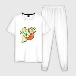 Пижама хлопковая мужская 1UP цвета белый — фото 1