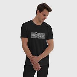 Пижама хлопковая мужская Joy Division цвета черный — фото 2
