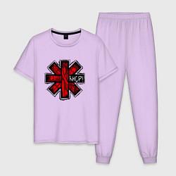 Пижама хлопковая мужская Red Hot Chili Peppers цвета лаванда — фото 1