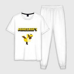 Пижама хлопковая мужская Minecraft Duck цвета белый — фото 1