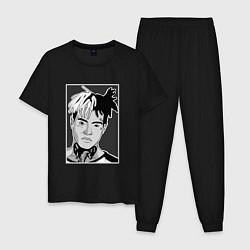 Пижама хлопковая мужская XXXtentacion portrait цвета черный — фото 1
