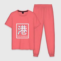 Пижама хлопковая мужская THE HARBOUR цвета коралловый — фото 1