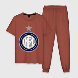 Пижама хлопковая мужская Inter FC цвета кирпичный — фото 1