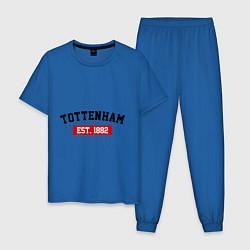 Пижама хлопковая мужская FC Tottenham Est. 1882 цвета синий — фото 1