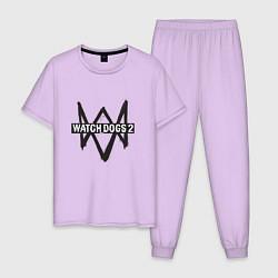 Пижама хлопковая мужская Watch Dogs 2 цвета лаванда — фото 1