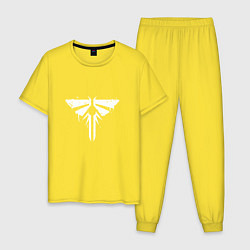 Пижама хлопковая мужская Firefly Graffiti цвета желтый — фото 1