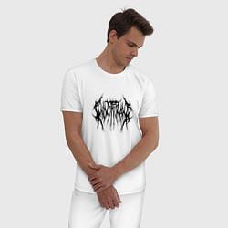 Пижама хлопковая мужская Ghostemane 2 цвета белый — фото 2