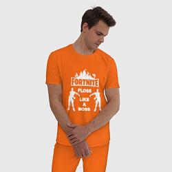 Пижама хлопковая мужская Fortnite Floss цвета оранжевый — фото 2