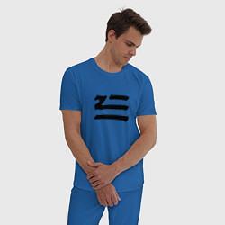 Пижама хлопковая мужская ZHU цвета синий — фото 2