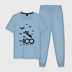 Пижама хлопковая мужская The 100 цвета мягкое небо — фото 1