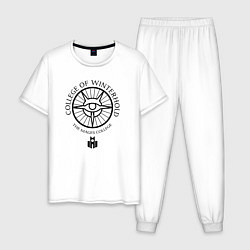 Пижама хлопковая мужская TES: The mages college цвета белый — фото 1