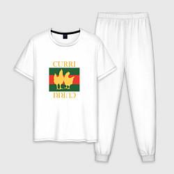 Пижама хлопковая мужская CURRI CURRI цвета белый — фото 1